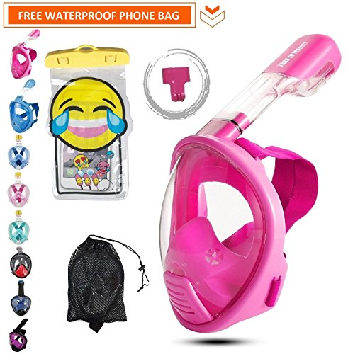 Snorkel Set For With GoPro Mount Mask with Snorkel (Pink) - 8