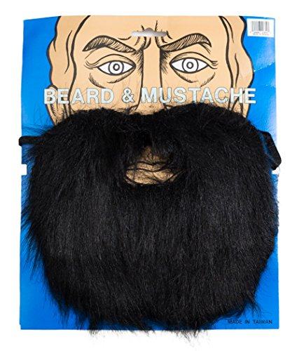 Loftus International Lumberjack Mountain Man Beard & Moustache Set Black One Size Novelty Item -