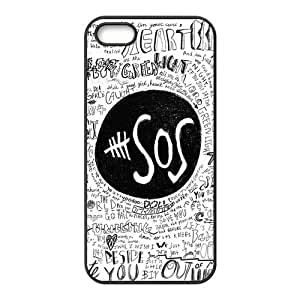 5sos Hard Rubber Phone Cover Case for iPhone 5,5S Cases