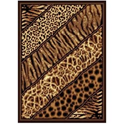 "United Weavers of America Legends Collection Slanted Safari Rug, 5'3"" by 7'2"""