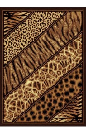 """United Weavers of America Legends Collection Slanted Safari Rug, 5'3"""" by 7'2"""""""