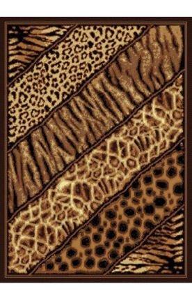 Black Safari Collection Rug (United Weavers of America Legends Collection Slanted Safari Rug, 5'3