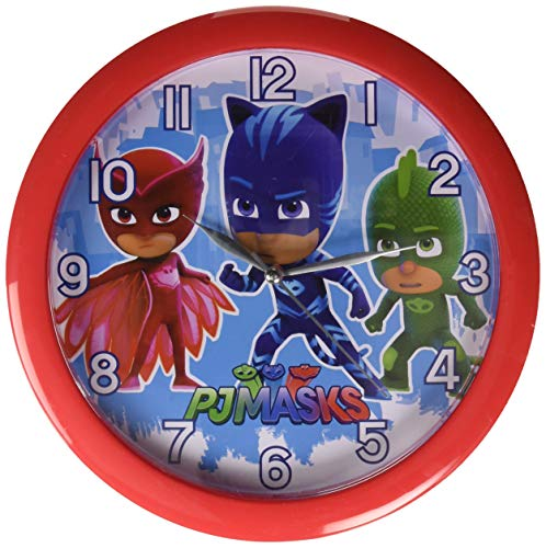 4SGM PJ Masks 10 Round Wall Clock Standard, Multicolor