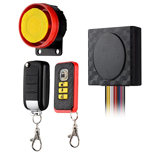 BlueFire 12V Universal Motorcycle Alarm System Anti-theft Security Remote...
