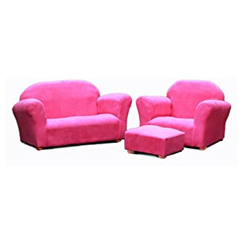 Amazon.com: Keet Roundy Microsuede Childrens Chair, Sofa ...