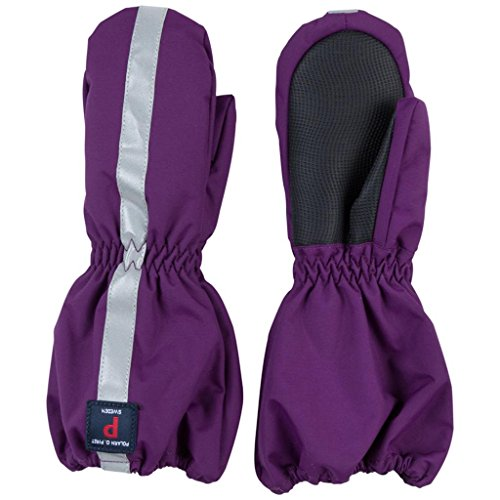 POLARN O. PYRET INSULATED CUFF MITTEN (BABY) - 6-12 months/Grape Royale