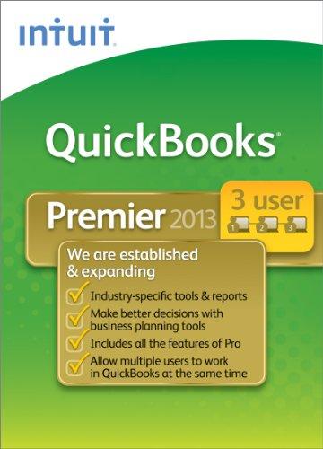 QuickBooks Premier Industry Editions 2013 - 3 User [Download] [OLD VERSION] (Quickbooks Premier 2013 Software)