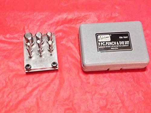 Punch Die Set 9 Pc Sheet Steel Metal Aluminum Brass Alloy Steel Hole Opening