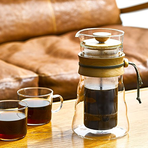 hario double glass coffee press 400ml olivewood buy online in uae kitchen products in the. Black Bedroom Furniture Sets. Home Design Ideas