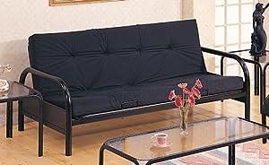 Amazon Com Coaster Modern Futon Sofa Couch Frame Black