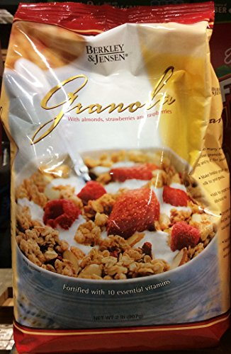 Berkley and Jensen Cerial, Granola with Almonds,strawberries and Raspberries, 2 Lb (Pack of 2)