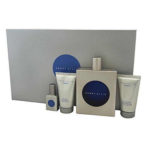 - Perry Ellis 4 Piece Gift Set for Men, Cobalt
