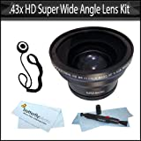 .43x HD Super Wide Angle Panoramic Macro Fisheye Lens For The Sony Alpha NEX-5, NEX-3 NEX-C3 Digital Camera Which Have The Sony E Series (16mm, 18-55mm) Lens + Lens Pen Cleaning Pen + Lens Cap Keeper + MicroFiber Cleaning Cloth