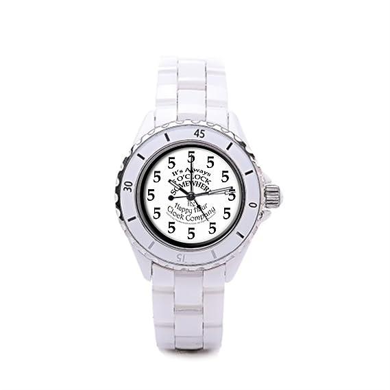 Algunos diferentes blanco Silvery barato de cerámica relojes de cerámica de las mujeres: Amazon.es: Relojes