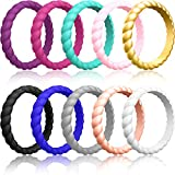 ThunderFit Thin Silicone Wedding Rings for Women