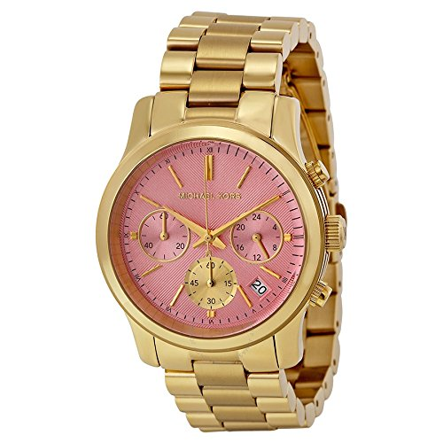 mk watches pink dial - 4