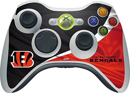 Skinit NFL Cincinnati Bengals Xbox 360 Wireless Controller Skin - Cincinnati Bengals Design - Ultra Thin, Lightweight Vinyl Decal -