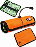 BUBM Portable Multipurpose Universal Cable Organizer (Medium, Orange)