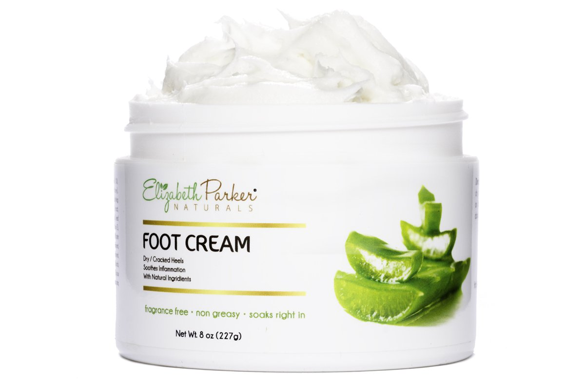 Foot Cream for Dry Cracked Heels and Feet - Anti Fungal for Athletes Foot - Best Foot Callus Remover for Men and Women - Fragrance Free and Non Greasy 2oz Elizabeth Parker Naturals