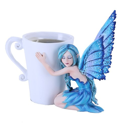Amy Brown Blue Comfort Tea Cup Fairy Statue 2016 Collection
