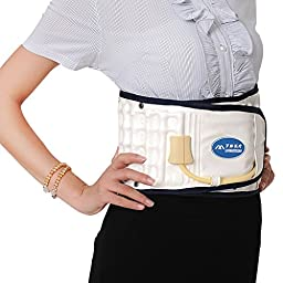 Halovie Decompression Back Relief Belt Waist Lumbar Brace Spinal Inflatable Traction L Size