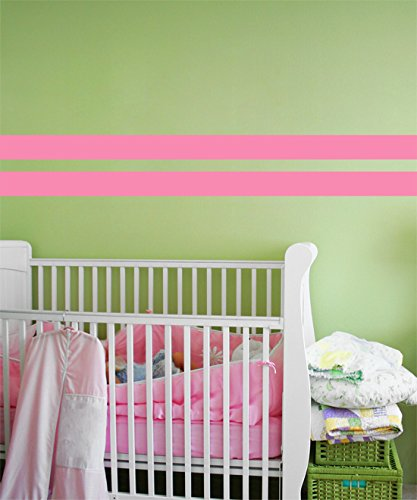 Borders Unlimited 30000 Light Pink Simple Stripes   B001DB0J5Q