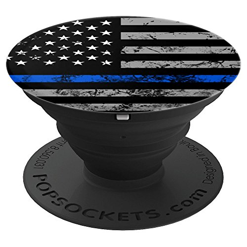 Thin Blue Line Pop Socket USA Flag Birthday Christmas Gift - PopSockets Grip and Stand for Phones and Tablets by Thin Blue Line Gifts Accessories