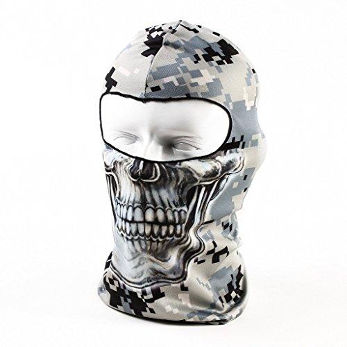 Amazon Lightning Deal 95% claimed: Your Choice Thin UV Protective Balaclava Motorcycle Cycling Sports Skull Face Mask Camo