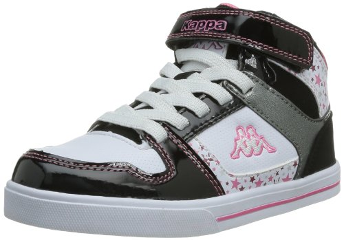 Kappa Lobya Elastic Velcro - Zapatillas de Deporte de material sintético Infantil negro - Noir (Black/Grey/White/Pink)