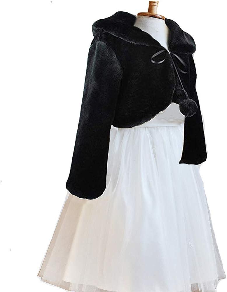 Yeahs Shop Girls Fur Bolero Shrug Princess Party Wedding Dress up