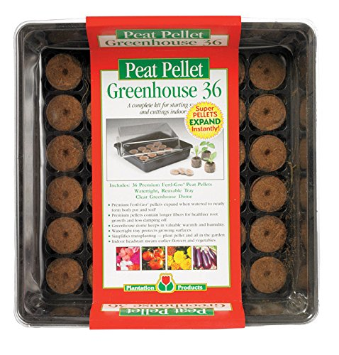 Plantation Products Peat Pellet Greenhouse Tray With Dome 11