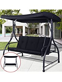 Ku0026A Company Porch Swing Chair Canopy Patio Furniture Outdoor Seat Cushion  Hammock Bed Seats Cushioned Garden
