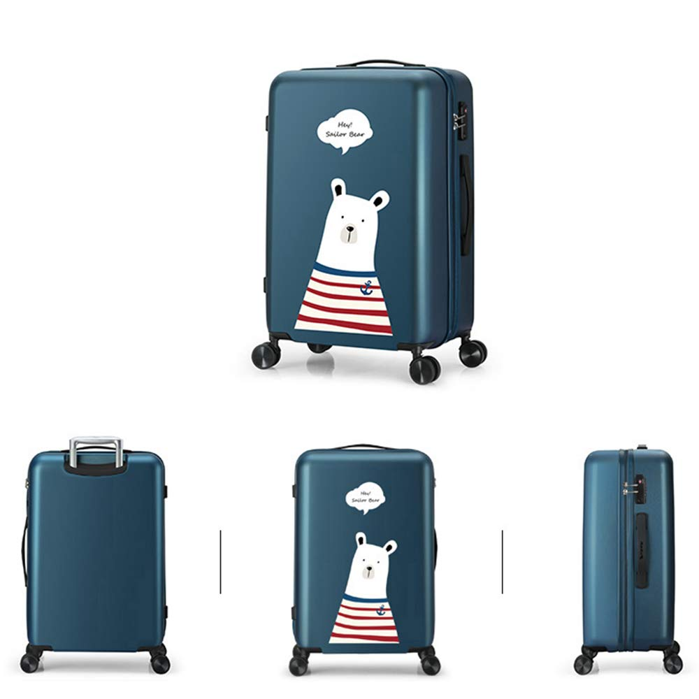 Silent Universal Wheel Suitable For Travel And Business Trip 4 Color 2 Size Anti-scratch And Wear-resistant TSA Combination Lock Aluminum Alloy Lever Cartoon Cute Pet YD Luggage Set Rolley Case