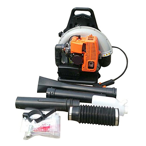 (65cc 2 Stroke Commercial Backpack Gas Powered Leaf Blower Gasoline Grass US)