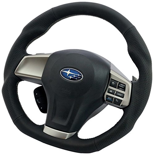 KENSTYLE original steering Subaru All Black Leather (Silver stitch) SWGPALS