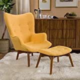 Acantha Mid Century Modern Retro Contour Chair With Footstool Part 85