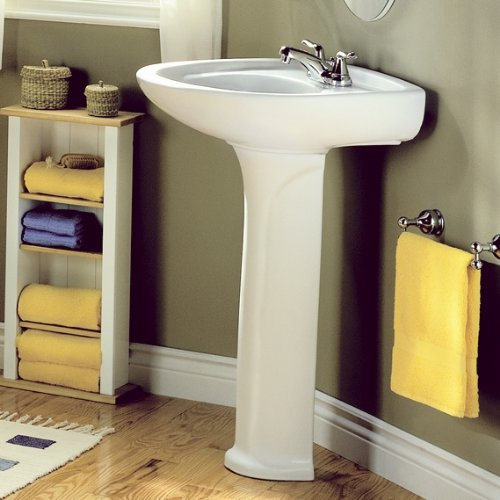 American Standard 0115.808.020 Colony 21 Inch Pedestal Sink Basin With 8  Inch Faucet Holes, White     Amazon.com