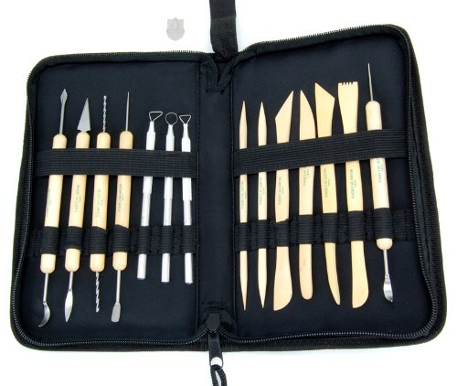 Clay Tool Deluxe 14 Piece Set with Canvas Carrying Case