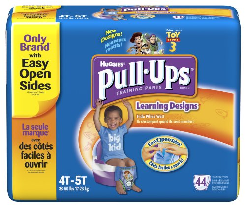 Huggies Pull-Ups Training Pants with Learning Designs, Boys, 4T-5T, 44 Count