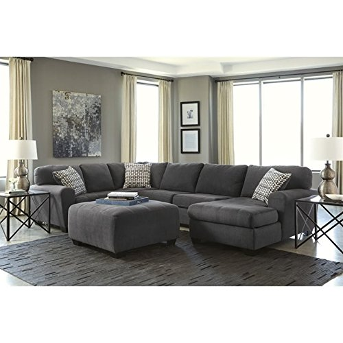 ashley sorenton 4 piece right chaise sectional with ottoman in