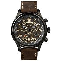 Timex T49905 Expedition Cronógrafo de campo resistente Reloj de correa de cuero negro /marrón