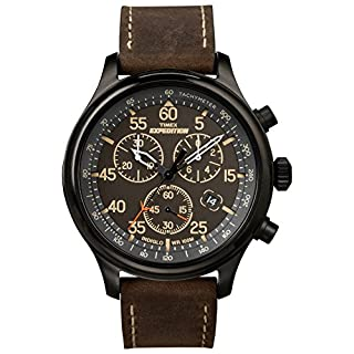 Timex Men's T49905 Expedition Rugged Field Chronograph Black/Brown Leather Strap Watch (B0083XFHIG) | Amazon Products