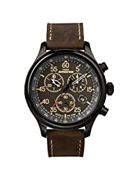 Timex Expedition Field Reloj cronógrafo para hombre, Marrón/Negro, calories burned = none | cartography type = none |