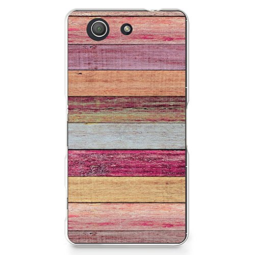 Plastic Case for Sony Z3 Compact, Colorful Wood Print PC Case Plastic Cover for Sony Xperia Z3 Compact (X04) ()