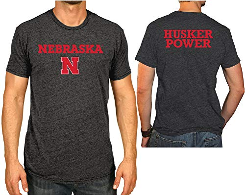 Elite Fan Shop Nebraska Cornhuskers Tshirt Charcoal Husker Power - L ()