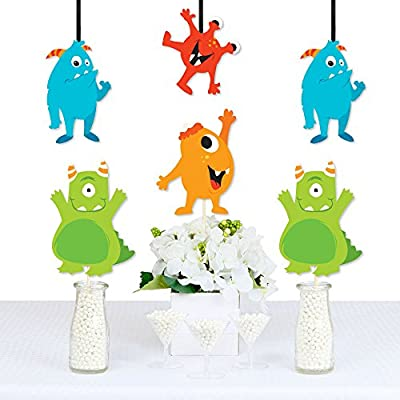Monster Bash - Decorations DIY Little Monster Birthday Party or Baby Shower Essentials - Set of 20: Toys & Games