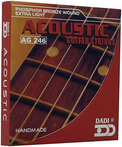 Dadi AG246 Juego de Cuerdas Para Guitarra acústica: Amazon.es ...