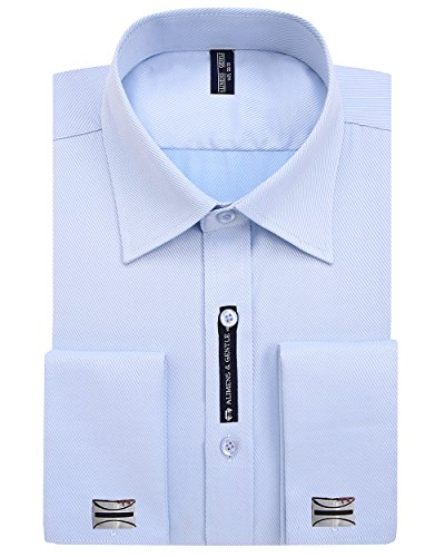 Alimens & Gentle French Cuff Regular Fit Dress Shirts (Cufflink Included) (18.5