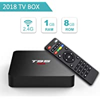 T95 S2 Android TV Box with Android 7.1 Amlogic S905W Quad-Core 1GB RAM 8GB ROM supports H.265 Ultra HD 2.4GHz Wi-Fi 100M LAN HDMI