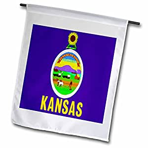 Florene State Flags - State Flag Of Kansas - 12 x 18 inch Garden Flag (fl_45065_1)